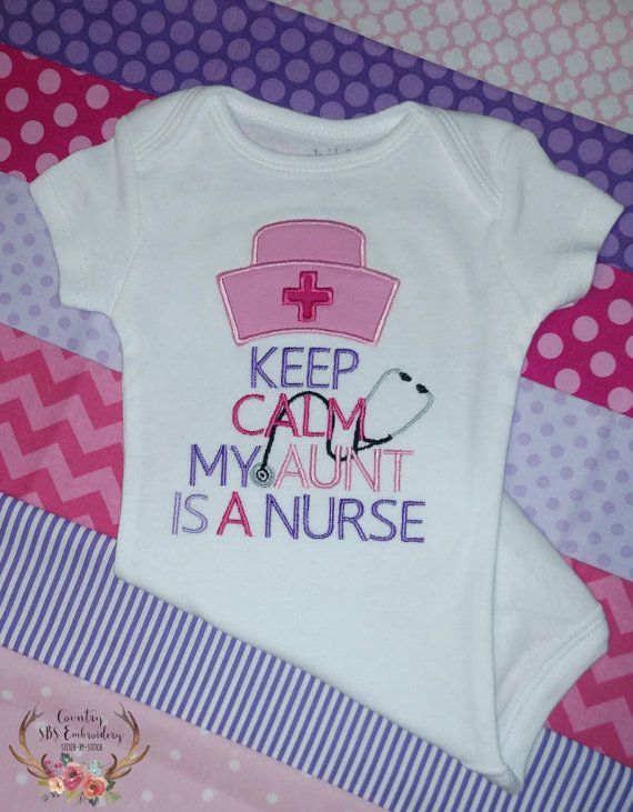 Keep Calm My Aunt Is A Nurse Embroidered by BrandysEmbroidery
