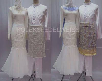 Camellia-Baju Kurung Moden NIkah Koleksi Baju Pengantin Baru 2016