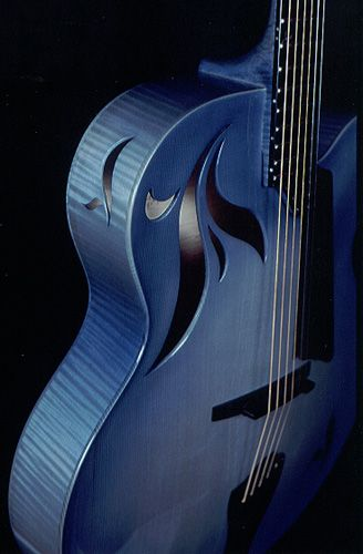 Benedetto La Cremona Azzurra (from the late Scott Chinery Blue Guitars Collection, Smithsonian Institute)