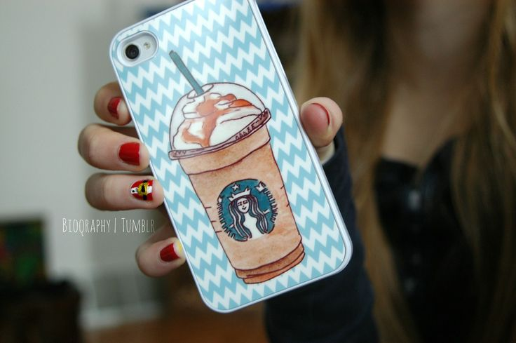 starbucks iPhone case for girls since mail cappuccino stripes red blue Santa