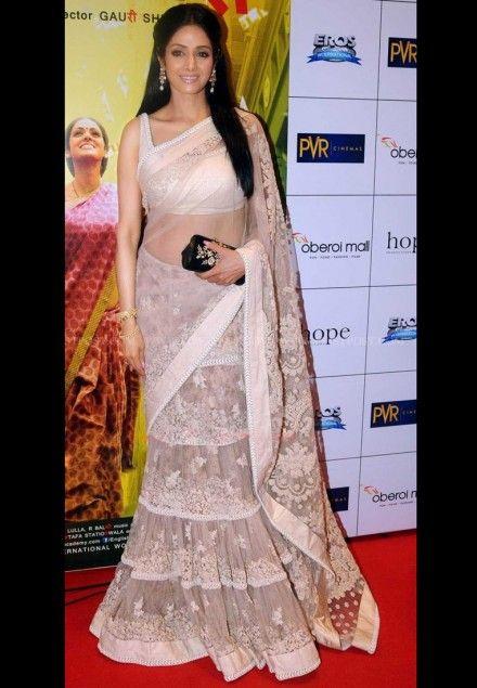 #Sridevi style offwhite #Bollywood Lehenga #Saree