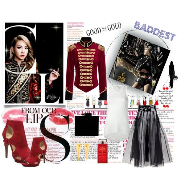 Baddest and Strong by vonny-baniez on Polyvore featuring Helmut Lang, Pinky Laing, Jessica Simpson, Lulu Guinness, Alexis Bittar, Elizabeth Arden and MAC Cosmetics