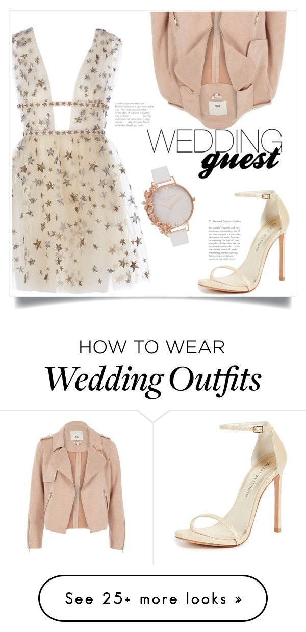 """Wedding Guest"" by panda0805 on Polyvore featuring Stuart Weitzman, River Island and Olivia Burton"