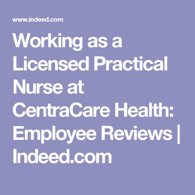 Working As A Licensed Practical Nurse At Centracare Health