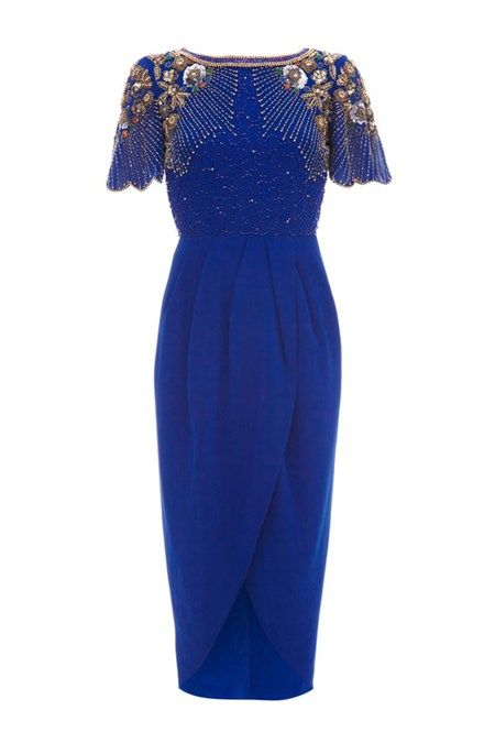 What To Wear A Winter Wedding Guest Outfit Ideas Glamour Uk Blue Dress Pinterest Outfits