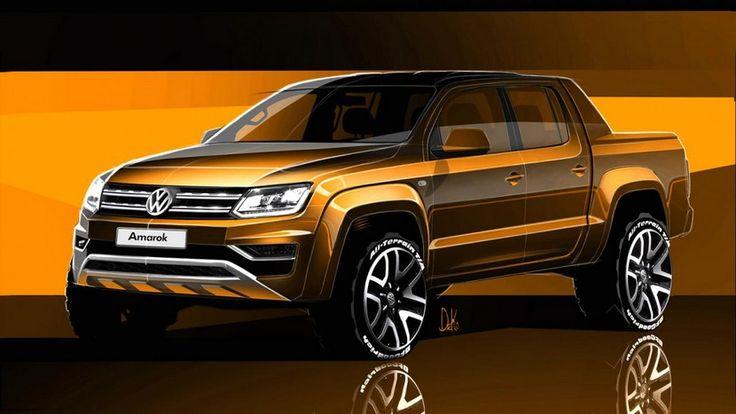 Estos bocetos nos enseñan el Volkswagen Amarok 2016 - http://www.actualidadmotor.com/volkswagen-amarok-2016-primeras-imagenes/