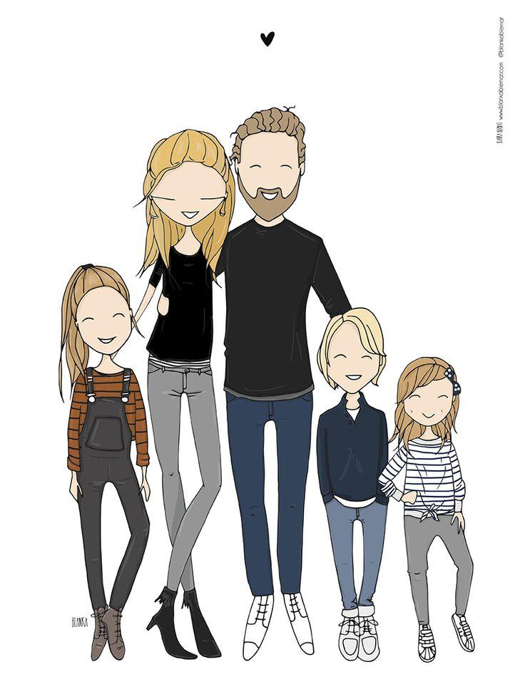 Family portrait by Blanka Biernat