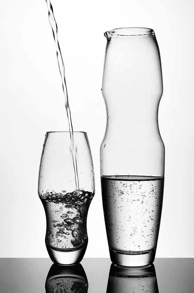 Water set glasses by Filip Dobias