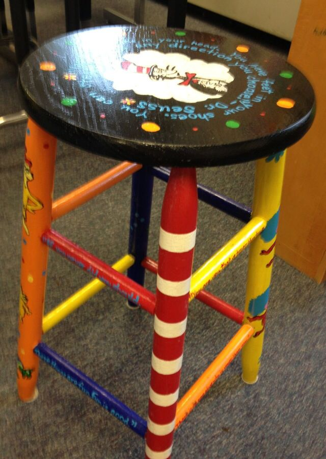 Painted Furniture (wooden Bar Stools, Foot Stools, Rocking Chairs,  Dressers, Etc).