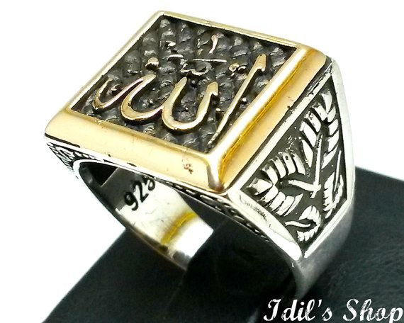 :::: ☼ ☾  PINTEREST.COM christiancross ::::    Men's Ring Turkish Ottoman Style Silver by IdilsShop