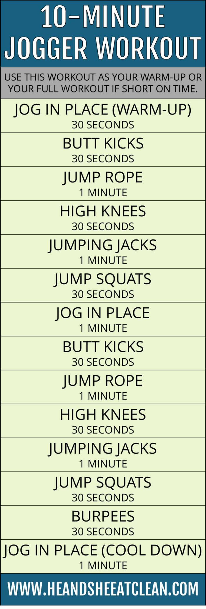 10-Minute Jogger Workout | He and She Eat Clean #sponsored by Champion
