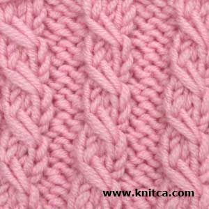 Right side of knitting stitch pattern – Cable 4