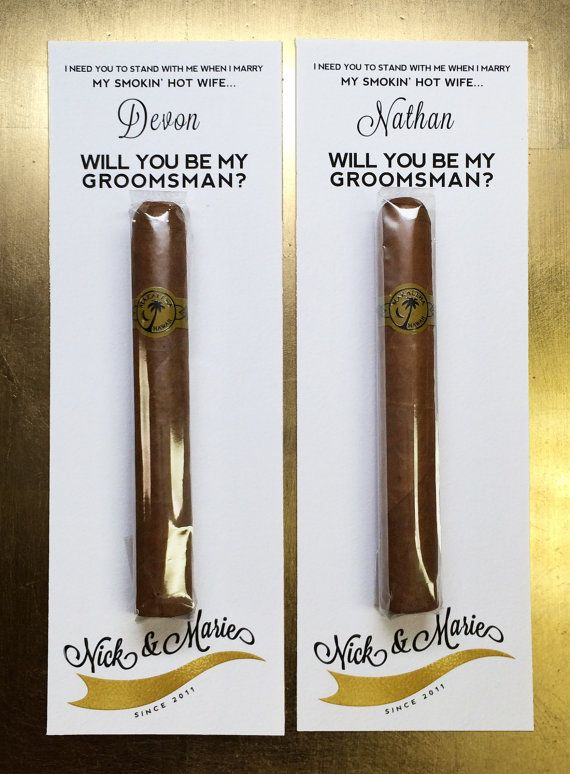 Will You Be My Groomsman Cigar / Custom Cigar by RelaxEventStudio