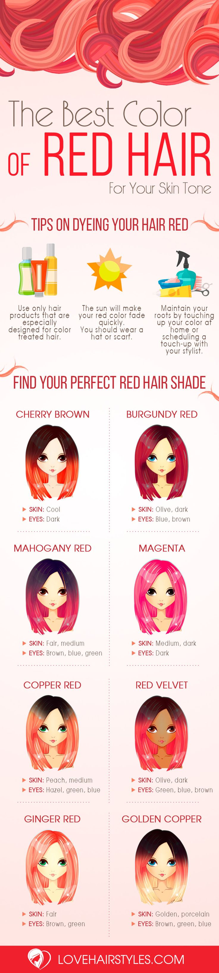 How To Choose The Best Color of Red Hair For Your Skin Tone ★ See more: http://lovehairstyles.com/red-hair-best-color/