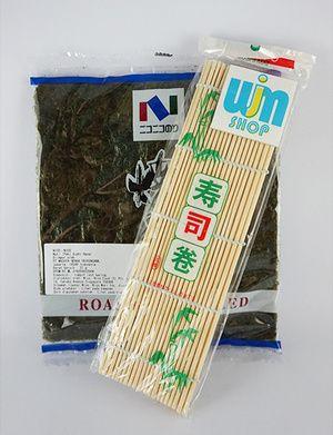 Nori isi 10 + sushi mat - P. Nogu 10 Beli Paket Lebih Praktis isi paket nogu 10: - Nori isi 10 lembar - Sushi mat/ gulungan sushi