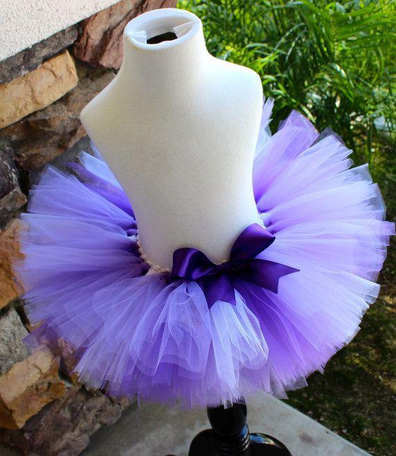 Púrpura y lavanda tutú tutú púrpura púrpura arco tutú de la