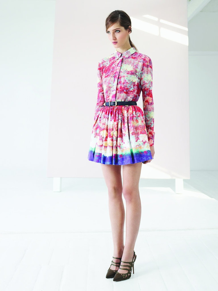 I need this fluoro shirt dress! Reiss do the best ones