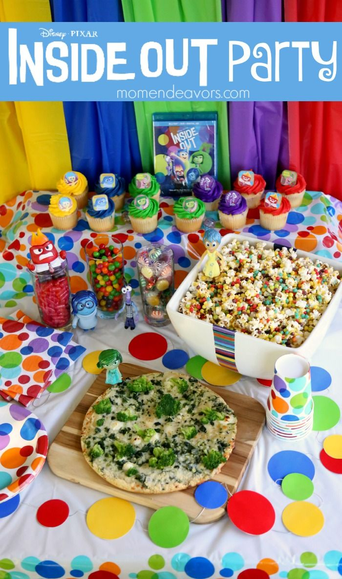 Simple Disney-Pixar Inside Out Party!! Food, activities, and free printables! #InsideOutEmotions AD