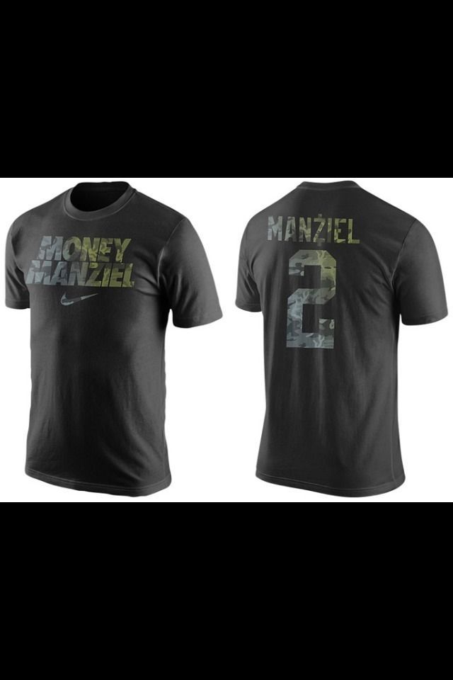Nike Money Manziel Johnny Football T-Shirt Black Camo Dri-Fit NFL Browns Tee HTF #Nike #GraphicTee