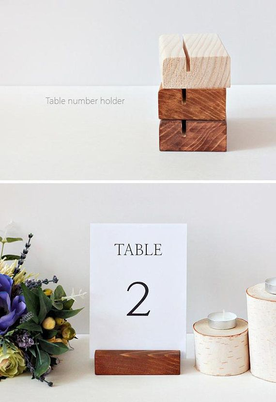 Rustic Table Number Holder 11cm Wooden Card Holders Table Menu Stands Reception Wedding Sign Holders Restaurant Menu Holders Rustic Table Numbers Table Number Holders Diy Table Numbers