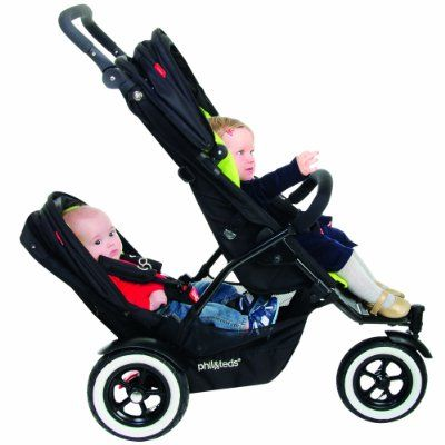 phil&teds Dot Doubles Kit for Strollers, Flint:Amazon:Baby