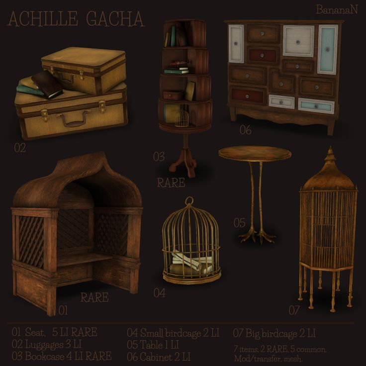 ACHILLE GACHA  Available @ BananaN inworld store in Second Life.