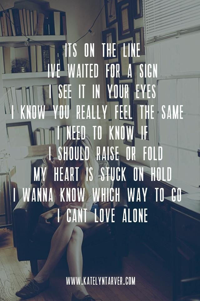 Love alone- katelyn tarver
