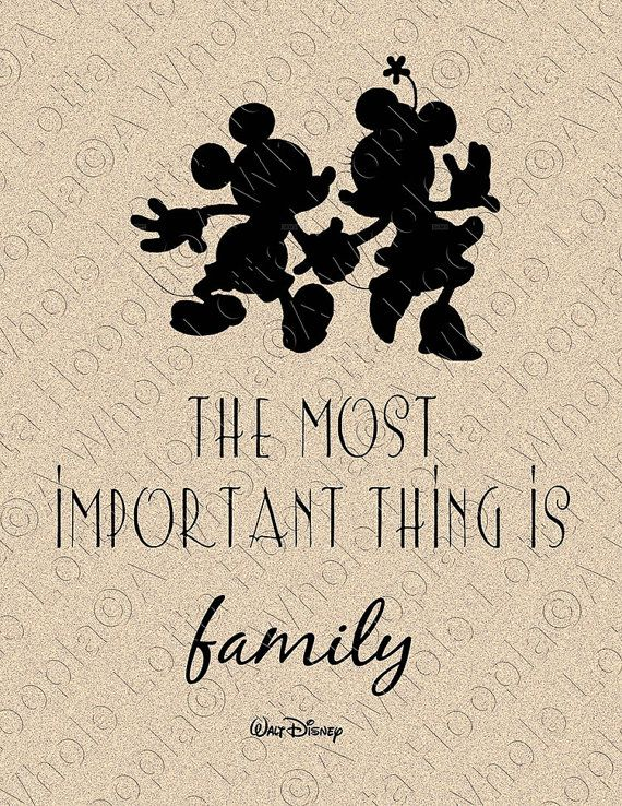 Typographic Print - Walt Disney Quote - Most Important Thing is Family on Etsy, $12.50