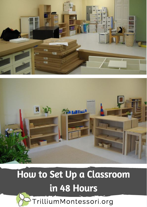 How to set up a classroom in 48 hours from Trillium Montessori