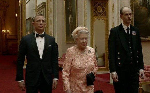 James Bond and the Queen of England