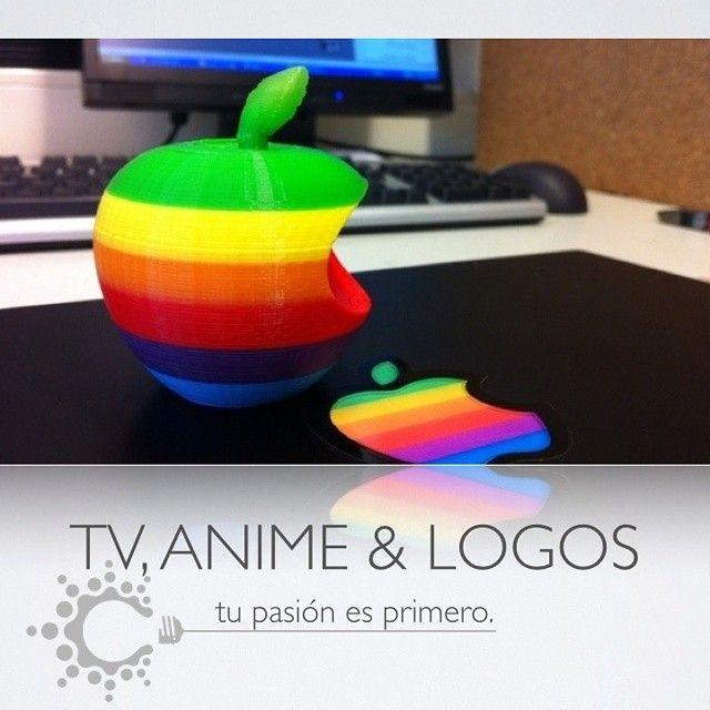 Impresión 3D sobre tv, anime y logos! #creativo #Honduras