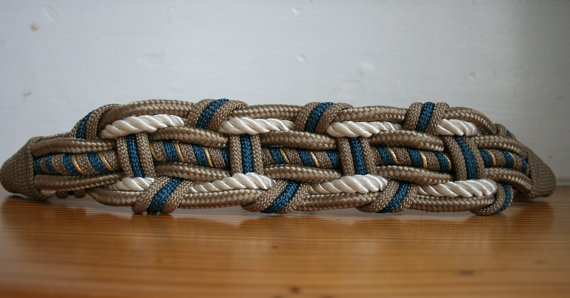 Sailors Knot Braided Rope Belt by HeathandMoor on Etsy, $20.00