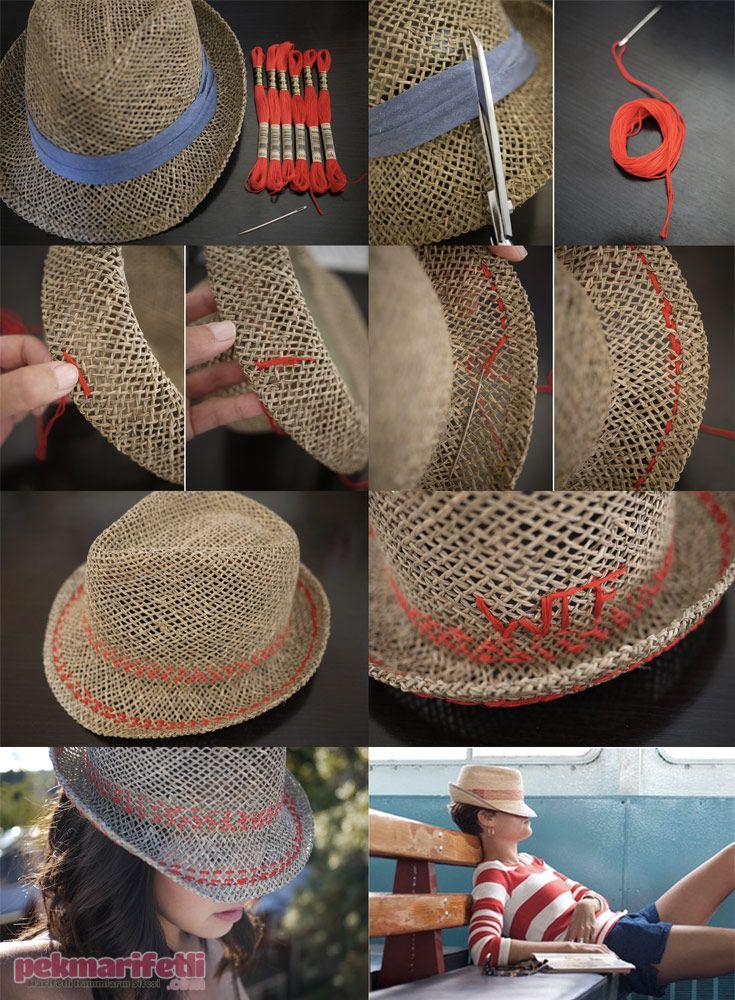 Hasır şapka nasıl süslenir? | El Yapımı | Pek Marifetli!