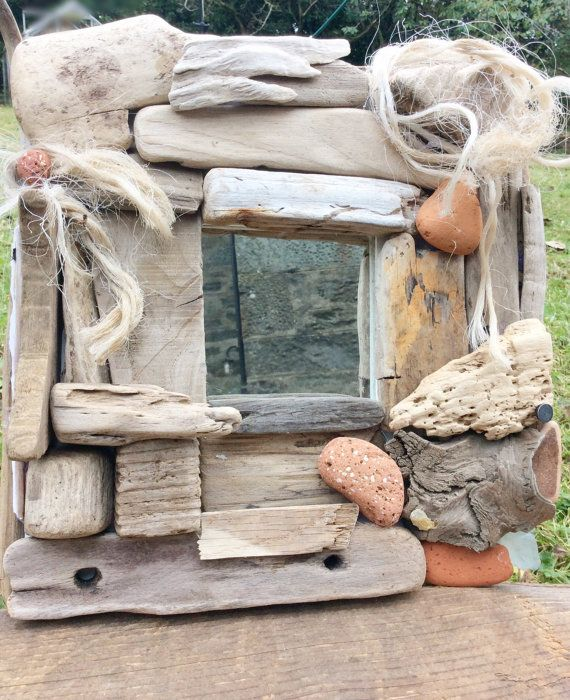 Driftwood Mirror Small Driftwood Mirror Square by DaisysDriftwood
