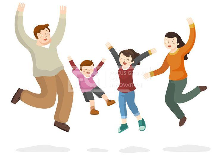 프리진, 일러스트, 사람, 여자, 웃음, 가정, 행복, 엄마, 아빠, 가족, 남자, 딸, 협동, 일러스트, 점프, 아들, 만세, 단합, 자녀, #에프지아이, ill101, Family unity, ill101_012, Family unity012