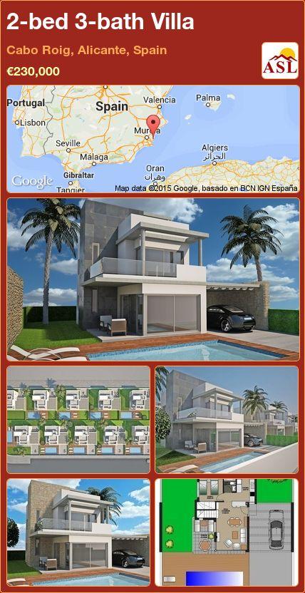 2-bed 3-bath Villa in Cabo Roig, Alicante, Spain ►€230,000 #PropertyForSaleInSpain