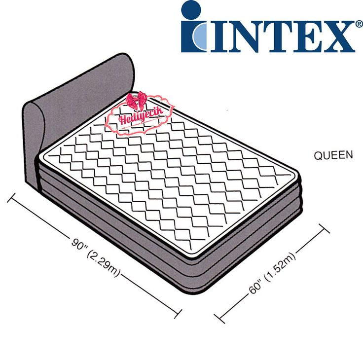 Intex Şişme Yatak Elelektirikli Dura-Beam Başlıklı Yatak 152x229x79cm