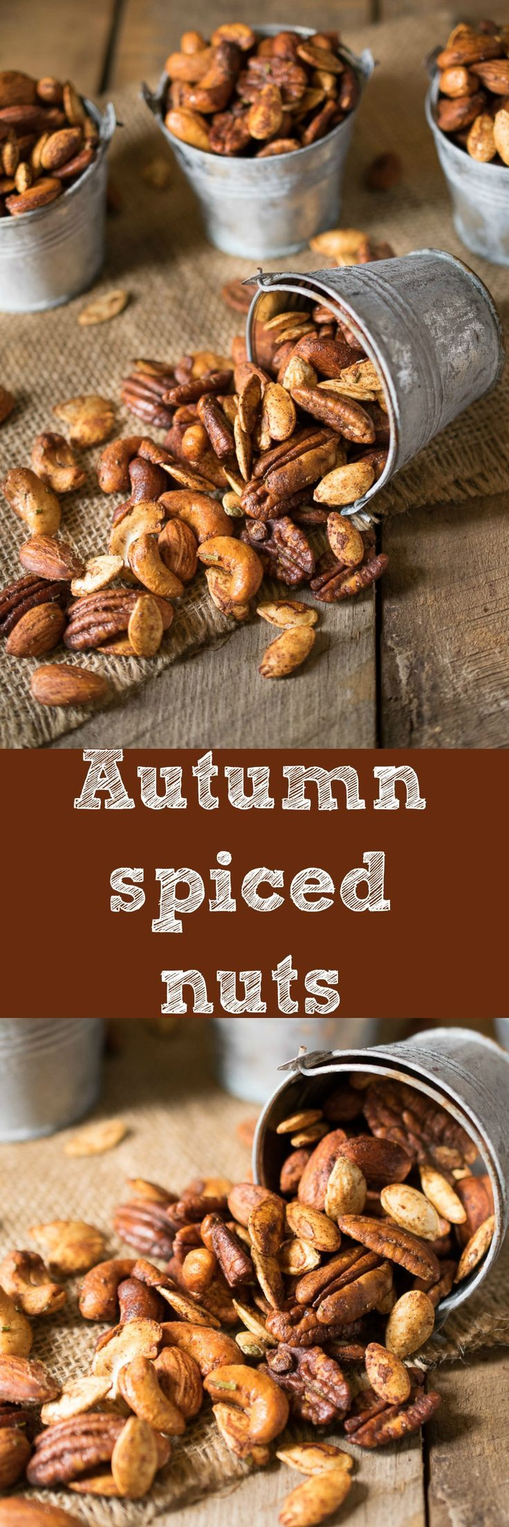 Mixed nuts and pumpkin seeds are roasted with warm spices, honey and rosemary, a perfectly comforting snack.