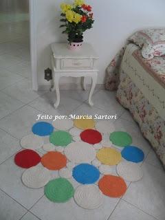 marcia sartori crochetando: Tapete Bolas Colorido