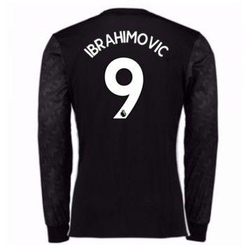Manchester United Zlatan Ibrahimovic 9 Bortatröja 17-18 Långärmad  #Billiga #fotbollströjor