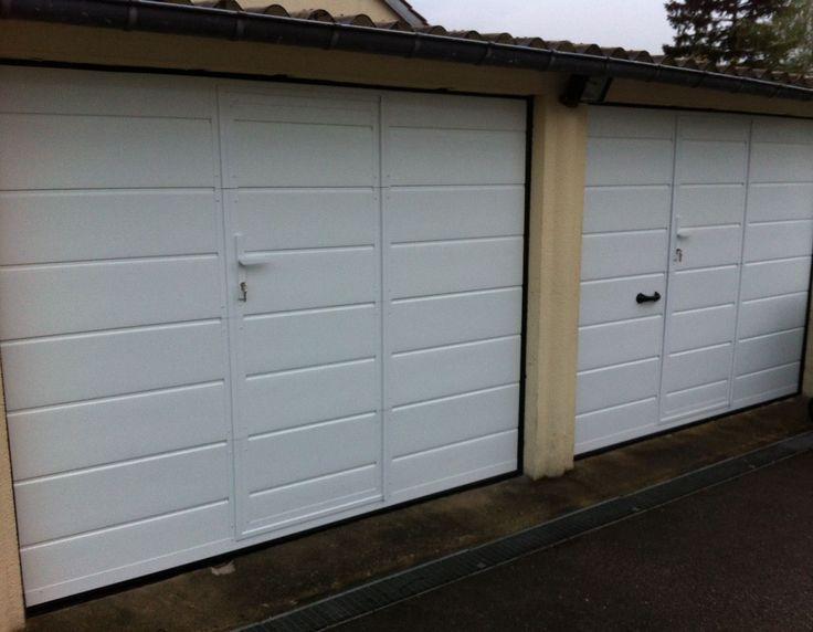 Portes De Garage Sectionnelles Ou Laterales Manuelles Et Mo Porte Garage Porte De Garage Sectionnelle Garage