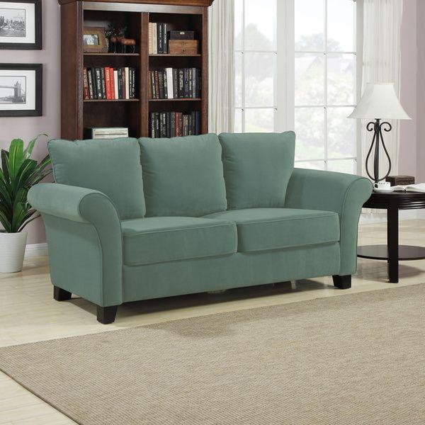 Portfolio Provant Turquoise Blue Velvet Sofa Polyester 493 62
