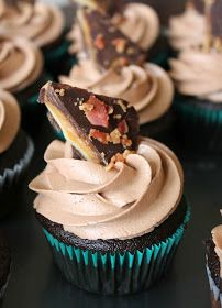 The Kitchen Prep: Chocolate-Whiskey Cupcakes.  Excellent cupcakes - nice whiskey flavor.