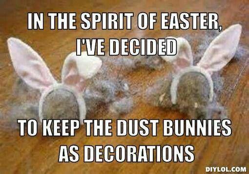 Easter dust bunnies