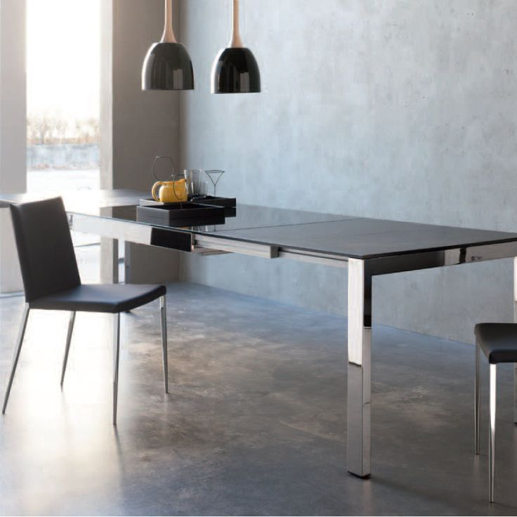 Genius Table Elegant Metal Design, Glass Top Contemporary, Smart,  Ultramodern