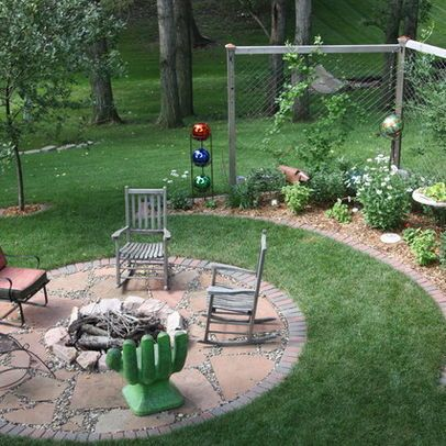 landscaping around a fire pit in ground fire pit design ideas