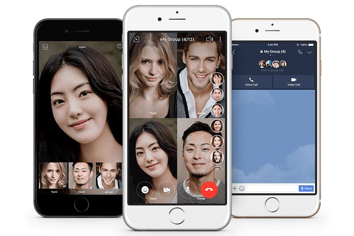 Got 200 friends? Video chat with them all at the same time using Line