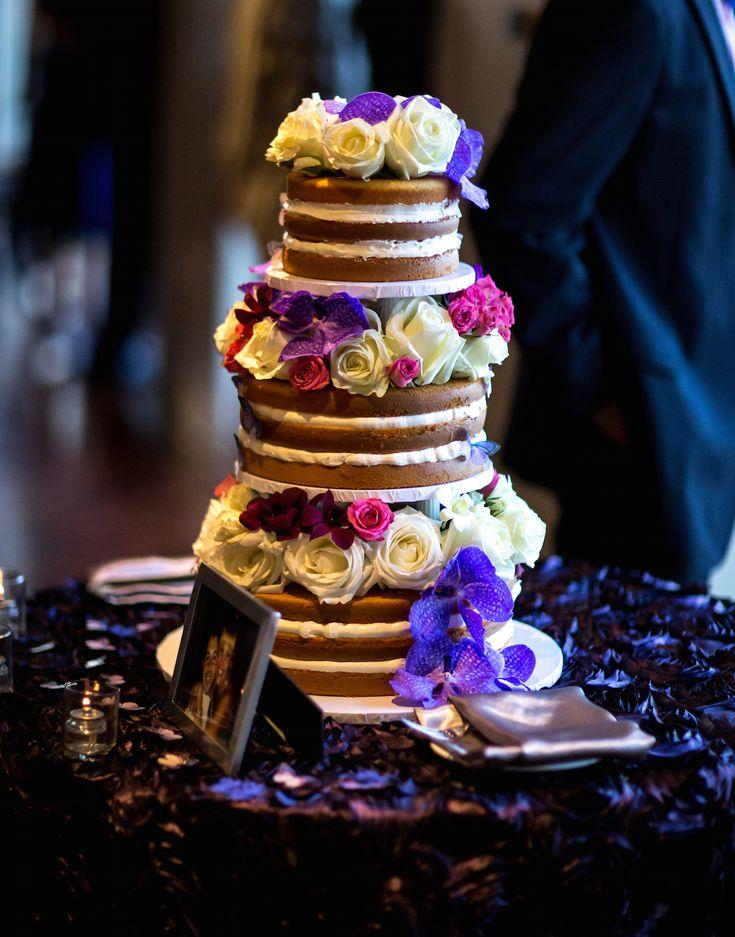 Naked Wedding Cakes Forgo Frosting