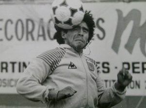 fotografia Maradona allenamento Argentina Mondiale Spagna82