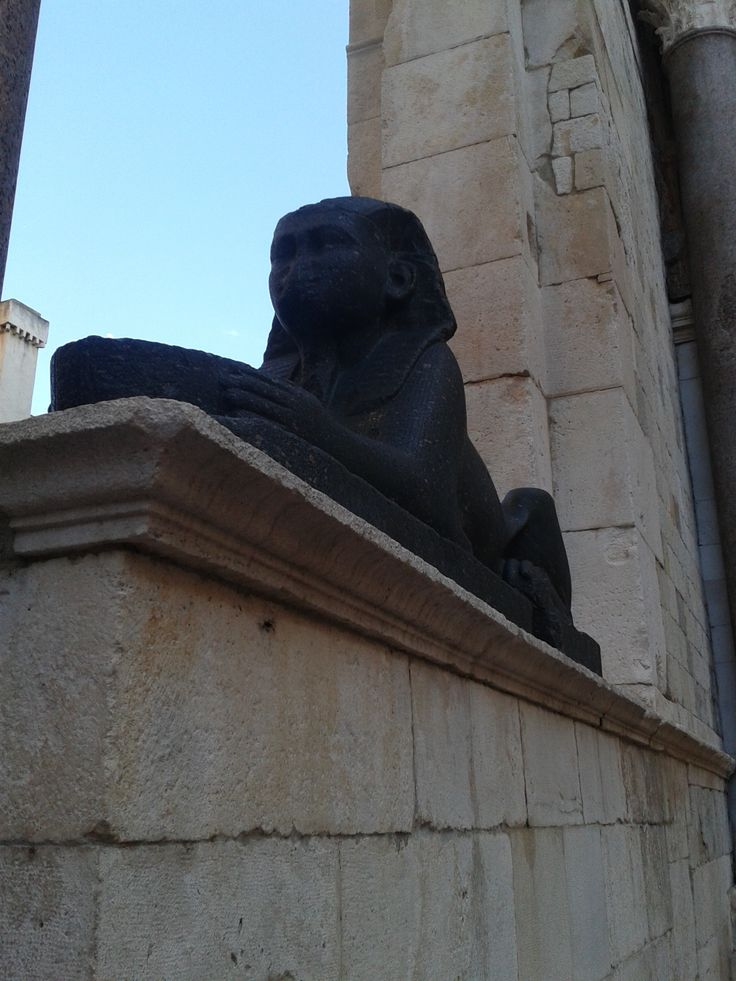 Sphinx in Split, Croatia http://www.flyeattravel.com/top-reasons-visit-croatia-summer/